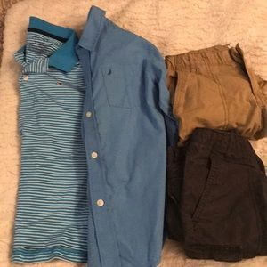 Bundle of boys size 7/8 (2 tops & 2 shorts)
